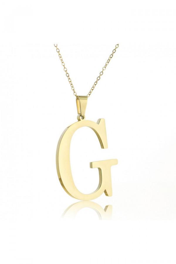 Naszyjnik celebrytka pogrubiona litera G