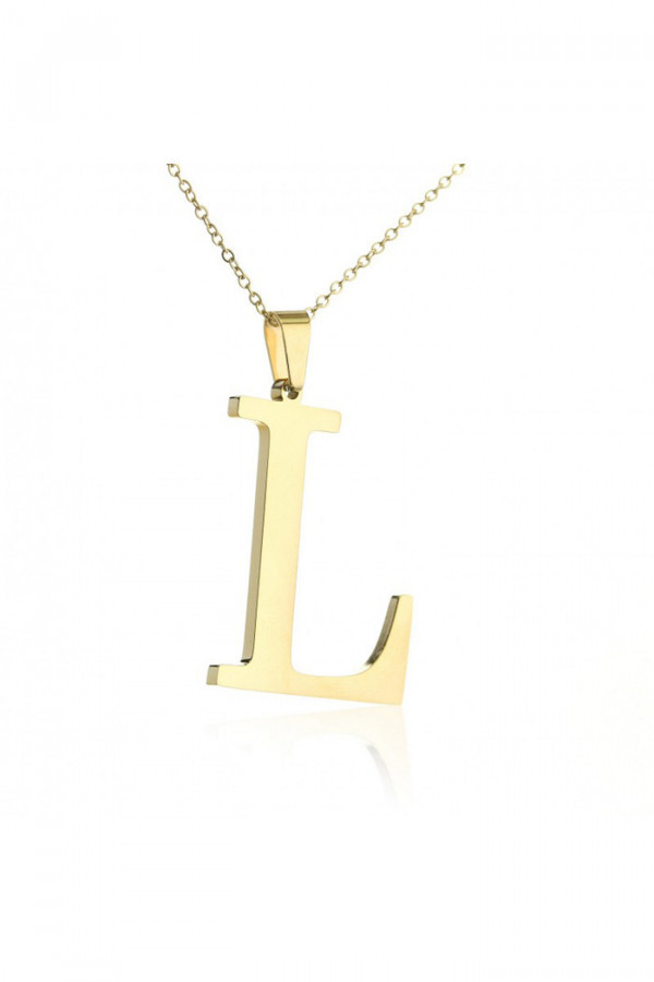 Naszyjnik celebrytka pogrubiona litera L