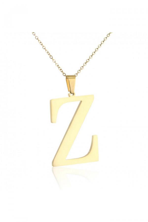 Naszyjnik celebrytka pogrubiona litera Z