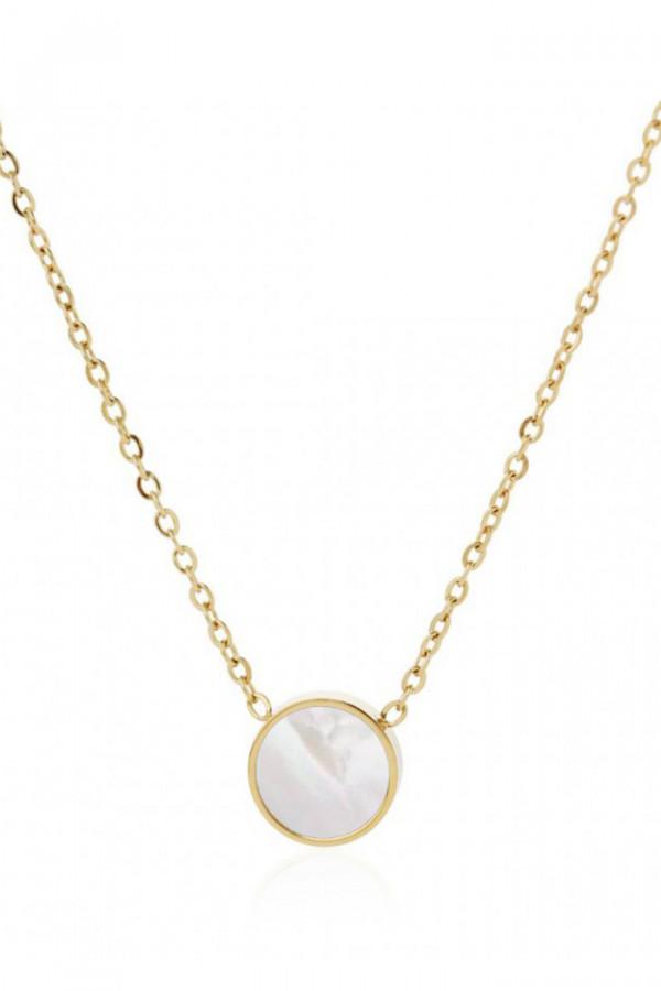 Naszyjnik celebrytka z perłowym kółkiem Fleur