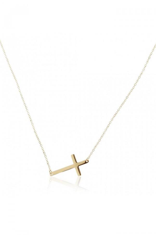 Naszyjnik celebrytka z krzyżem Sebire