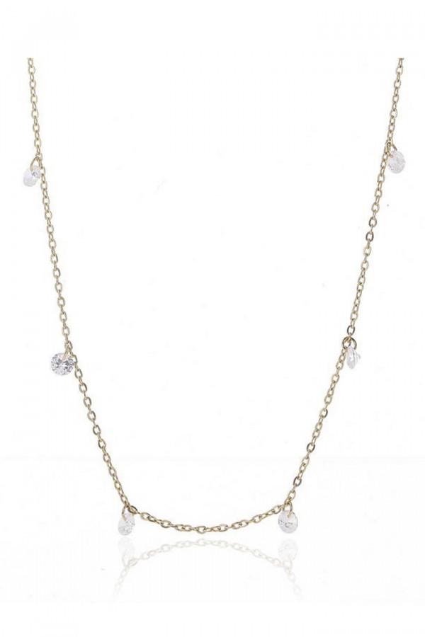 Naszyjnik celebrytka łańcuch z kryształkami Bertille