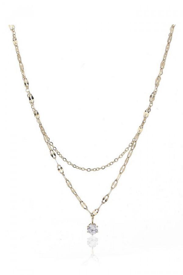 Naszyjnik celebrytka kaskadowy z kryształkami Charlène