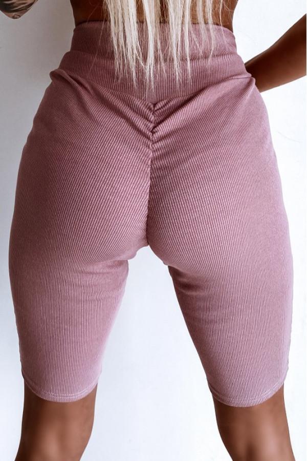 Różowe kolarki damskie z efektem push-up Noémi
