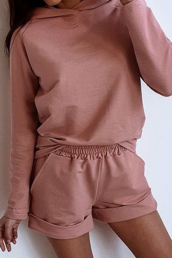Różowa bluza z kapturem Éliane