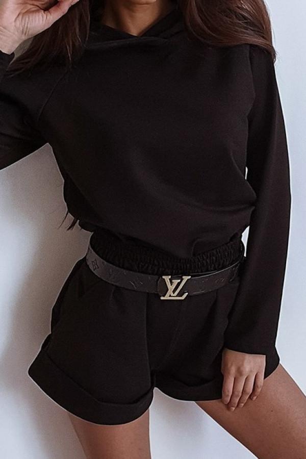 Czarna bluza z kapturem Éliane