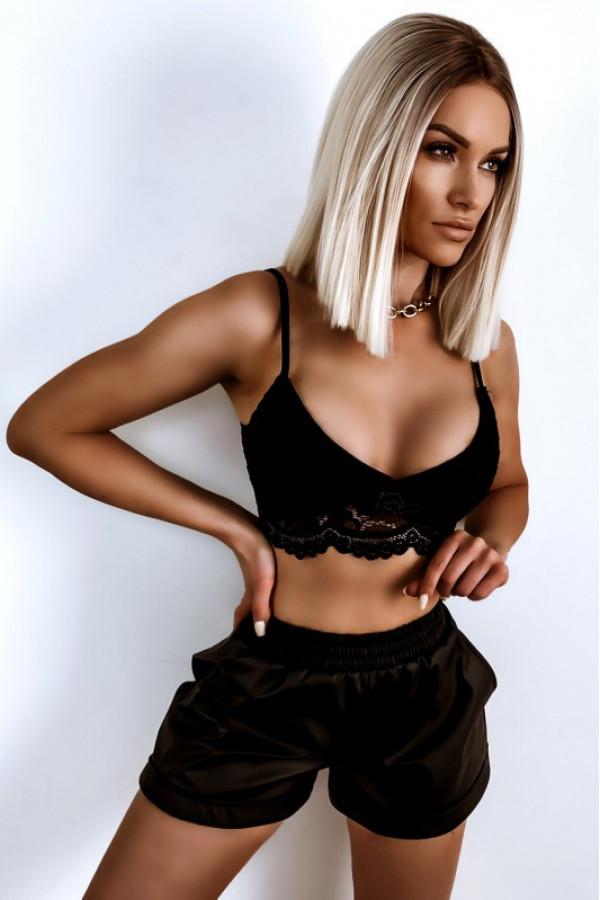 Czarny koronkowy bralet damski Skyler