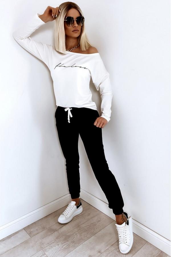 Czarny komplet dresowy z bluzą i spodniami Flawless