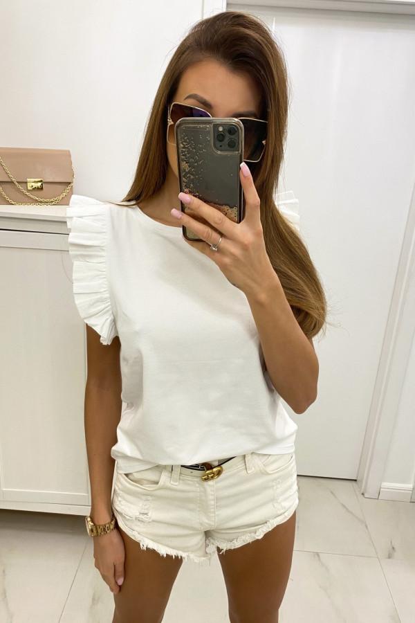 Biały top z falbankami Marika