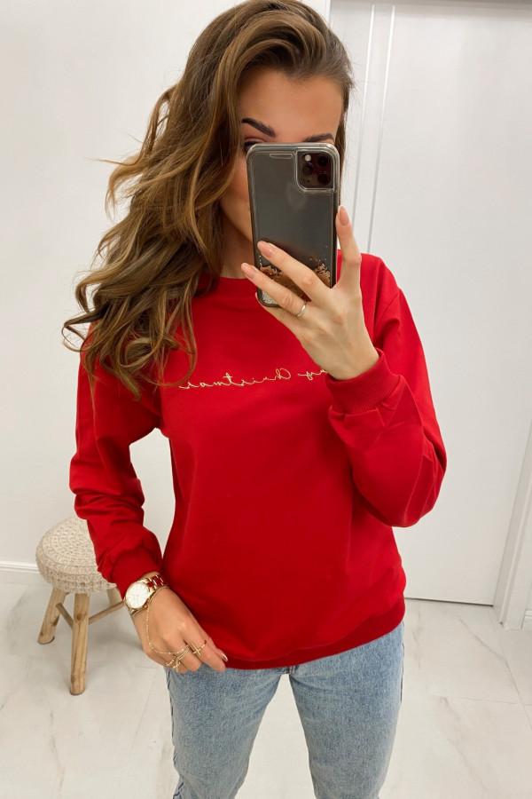 Bluza dresowa czerwona Merry Christmas