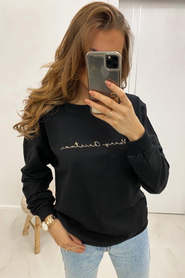 Bluza dresowa czarna Merry Christmas