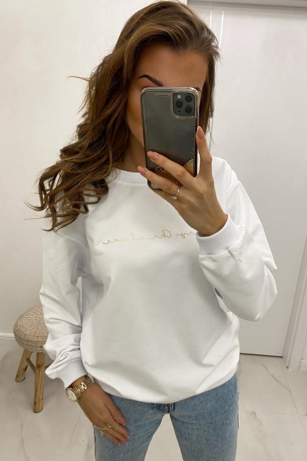 Bluza dresowa biała Merry Christmas