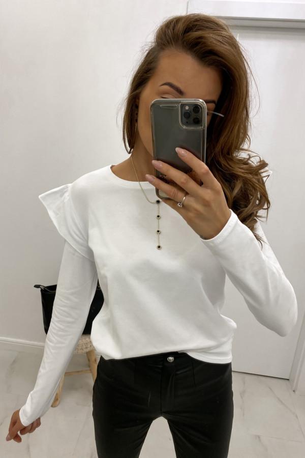 Biała bluzka z falbankami Chloe