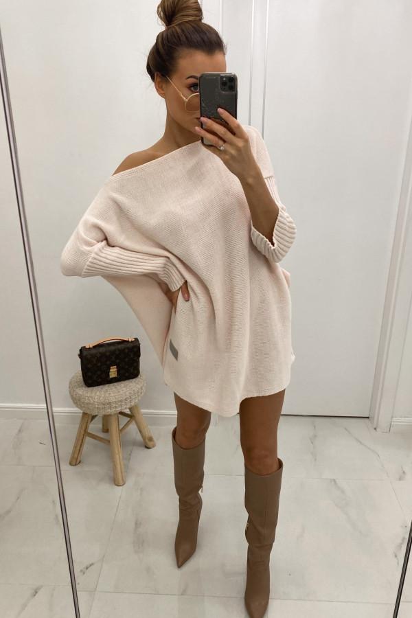 Różowy sweter tunika Olivia