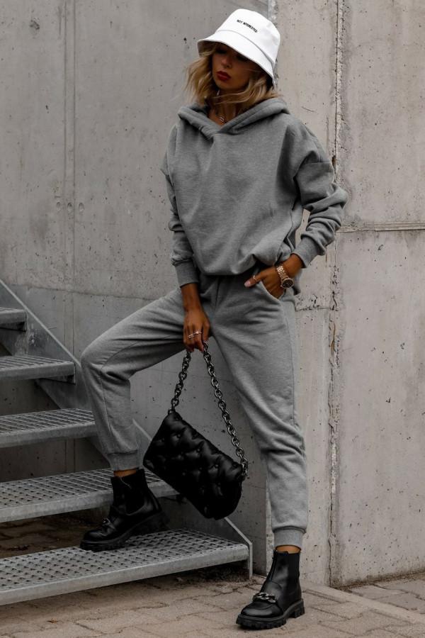 Szary komplet dresowy bluzka i spodnie Arianna
