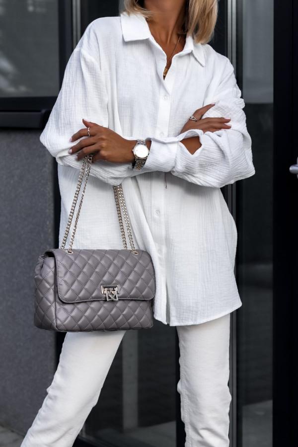 Biała rozpinana muślinowa koszula oversize Emily