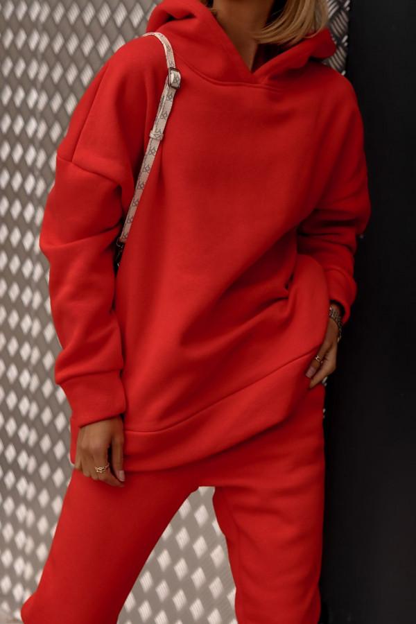Czerwony komplet dresowy bluzka i spodnie Arianna