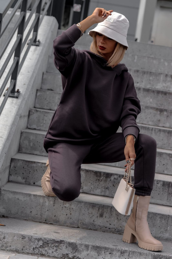 Fioletowy komplet dresowy bluzka i spodnie Arianna