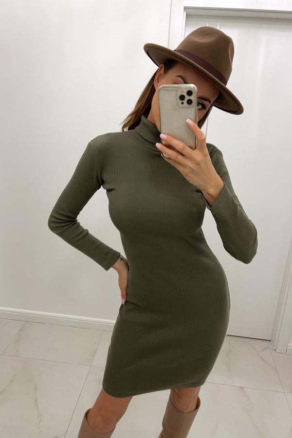 Sukienka Kylie z Golfem Khaki