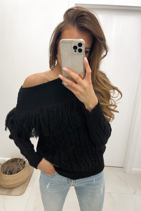 Sweter czarny Moris