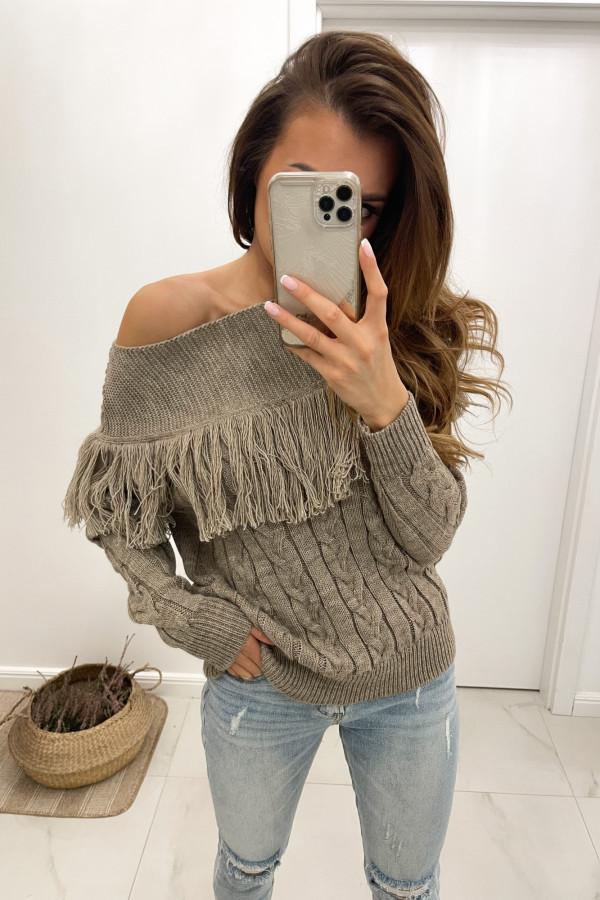 Sweter mokka Moris