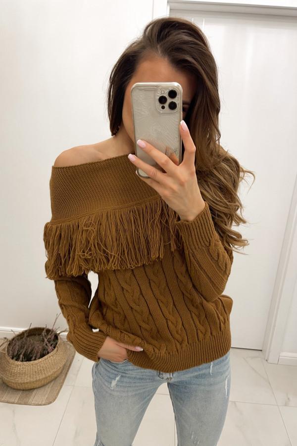 Sweter karmelowy Moris