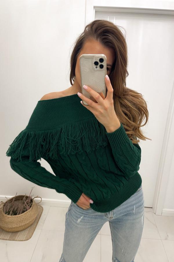 Sweter butelkowa zieleń Moris