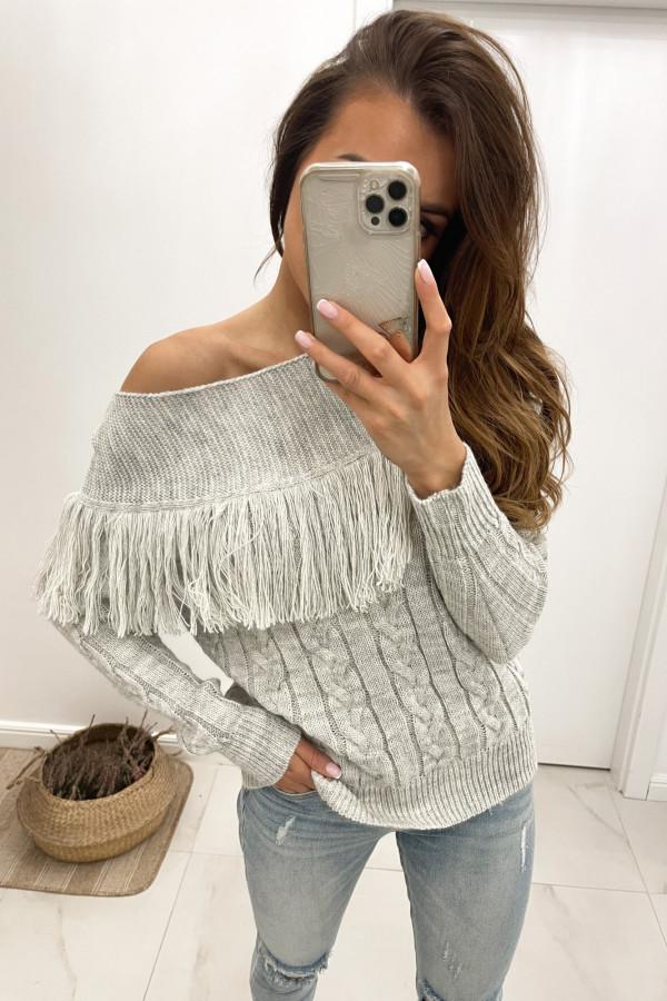 Sweter jasno szary Moris
