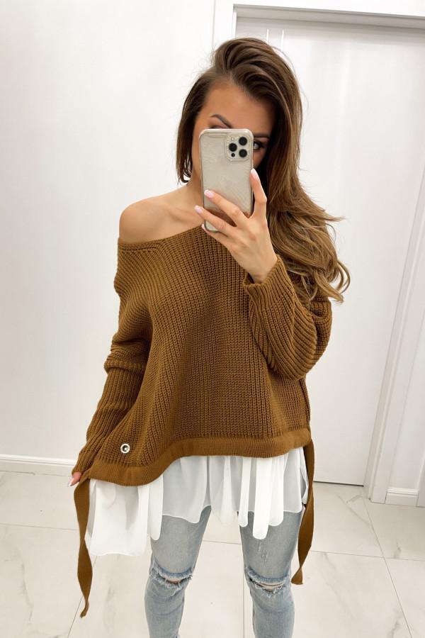 Sweter karmelowy Viva
