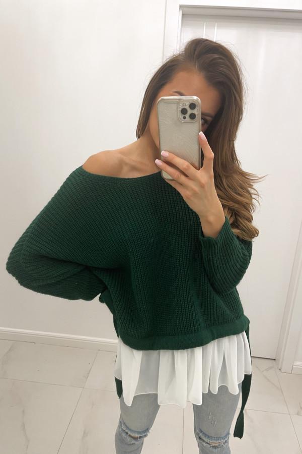 Sweter butelkowa zieleń Viva