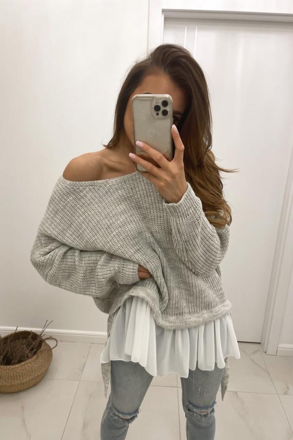 Sweter jasno szary Viva
