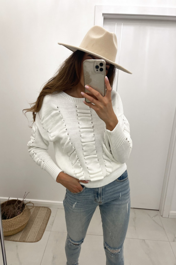 Sweter biały Flou