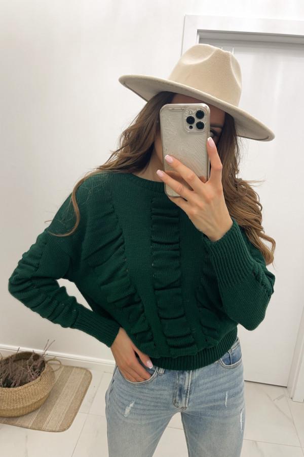 Sweter butelkowa zieleń Flou