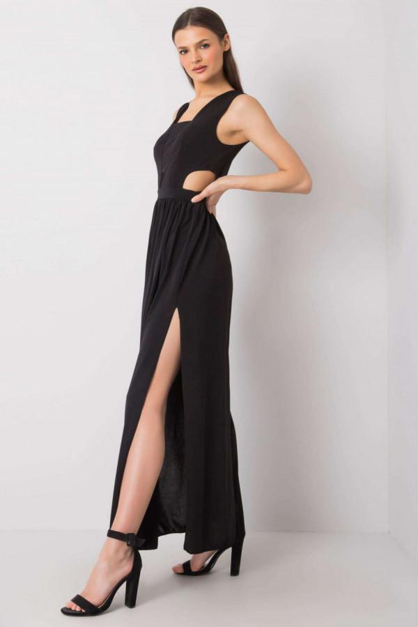 Czarna sukienka wieczorowa maxi Laia
