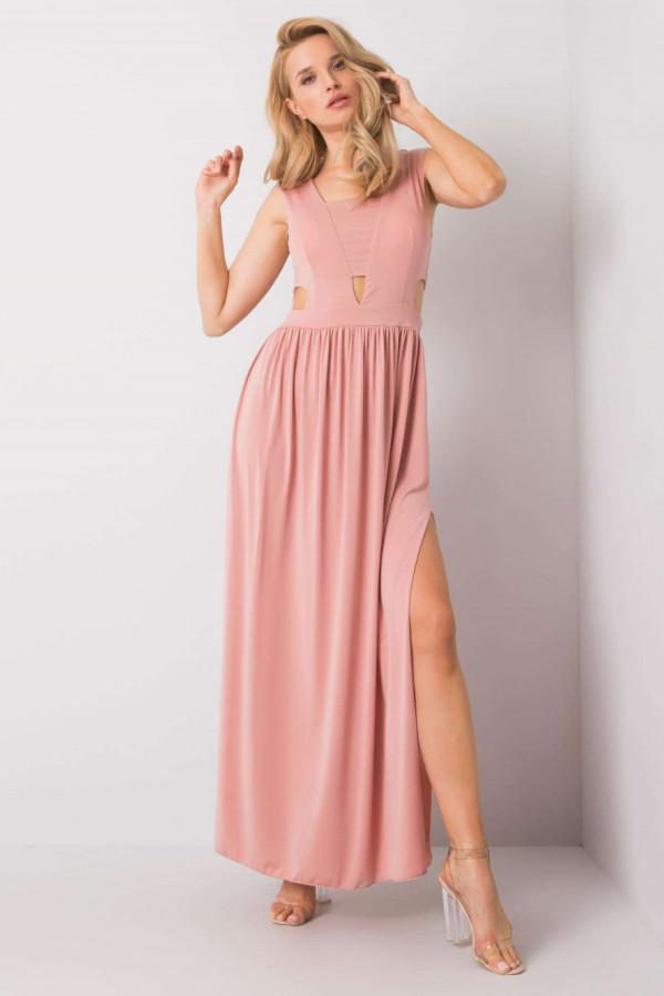 Różowa sukienka wieczorowa maxi Laia